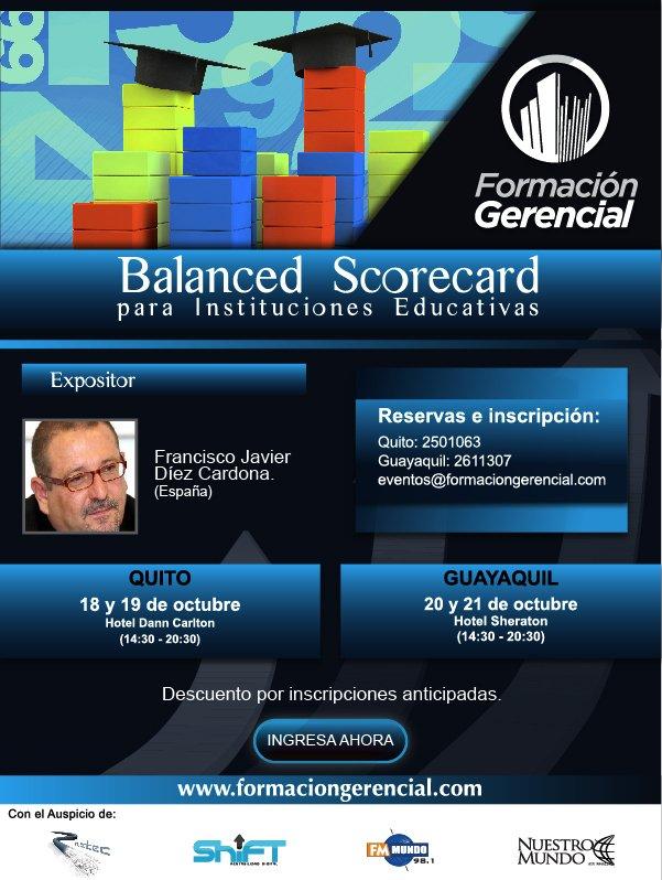 Balanced Scorecard Instituciones Educativas Ecuador Octubre 2010