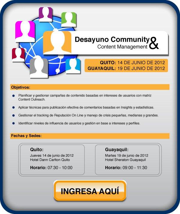 Desayuno Community y Content Management Marketing Ecuador
