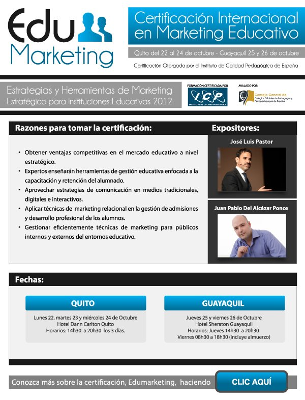 Certificación Internacional Edu Marketing desde España