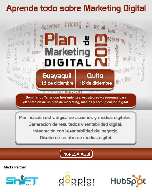 Plan de Marketing Digital 2013 Ecuador