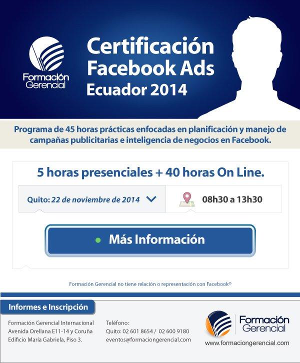 Certificación en Publicidad Facebook 45 horas