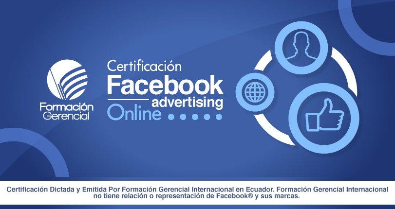Certificación Publicidad Facebook On Line Facebook Ads