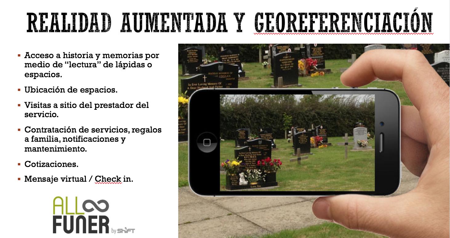 Realidad Aumentada Funerales y Cementerios