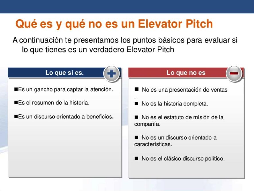 Qué es un Elevator Pitch