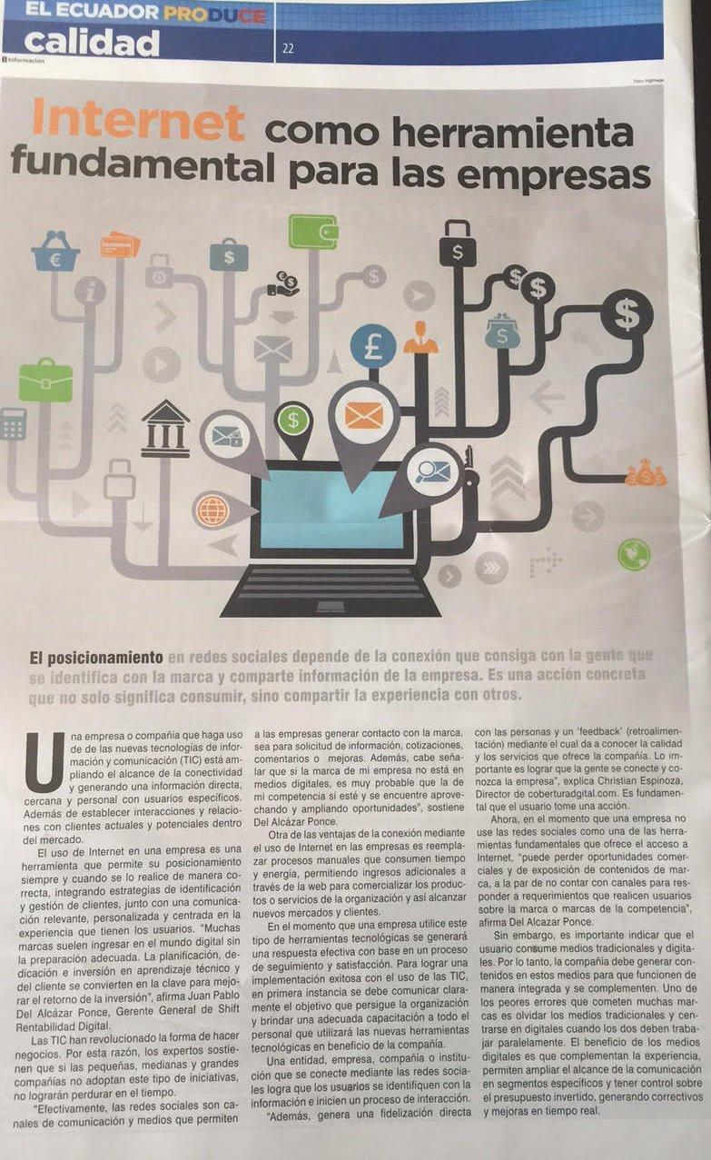 Artículo Publicado El Comercio Juan Pablo Del Alcázar