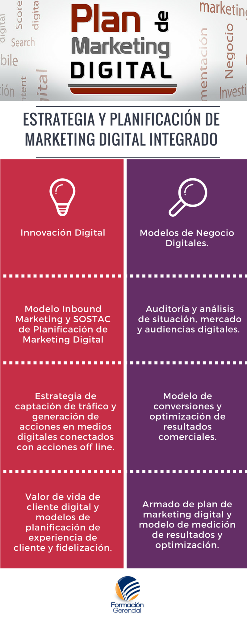 Infografía Plan de Marketing Digital