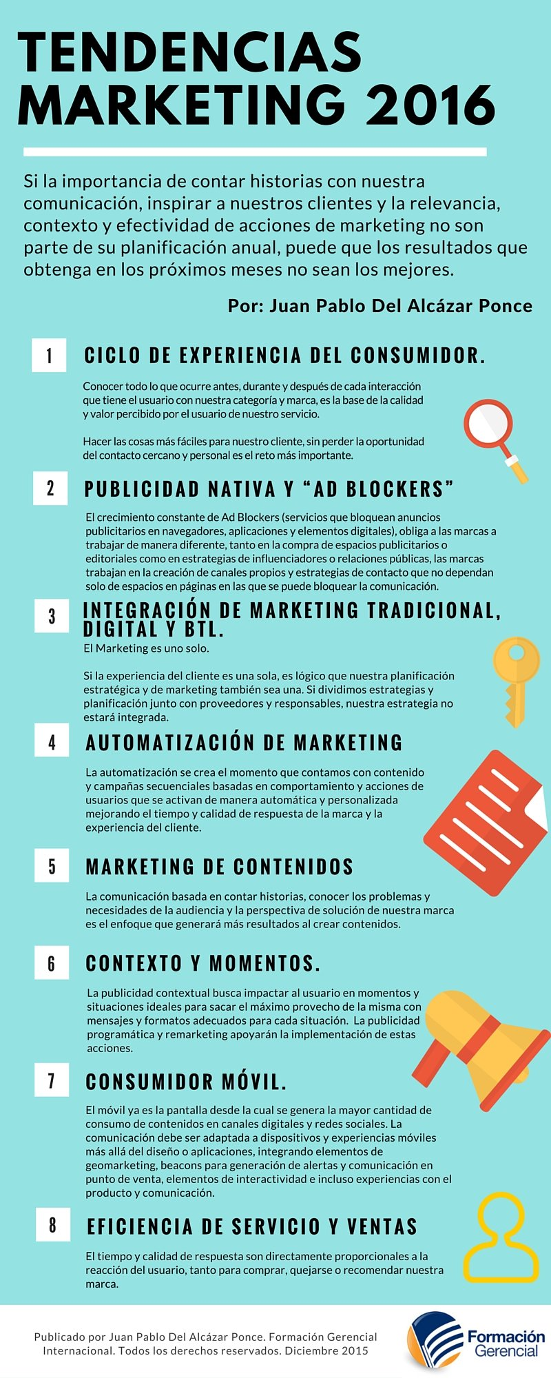 Infografía tendencias de marketing 2016