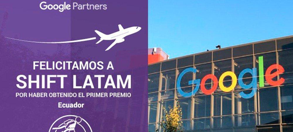 Felicitación Shift Latam premio Google Partners