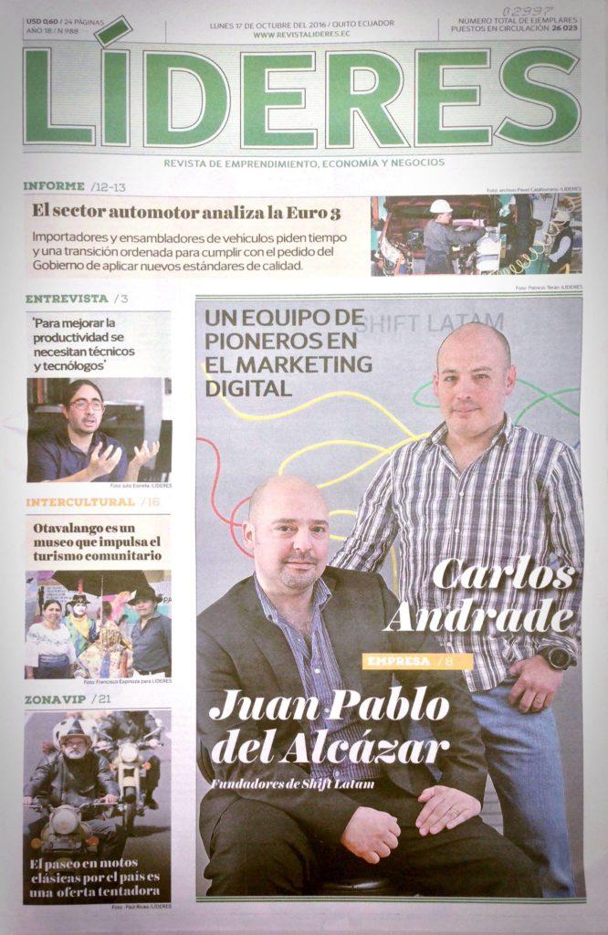 Portada Líderes Juan Pablo Del Alcázar Ponce