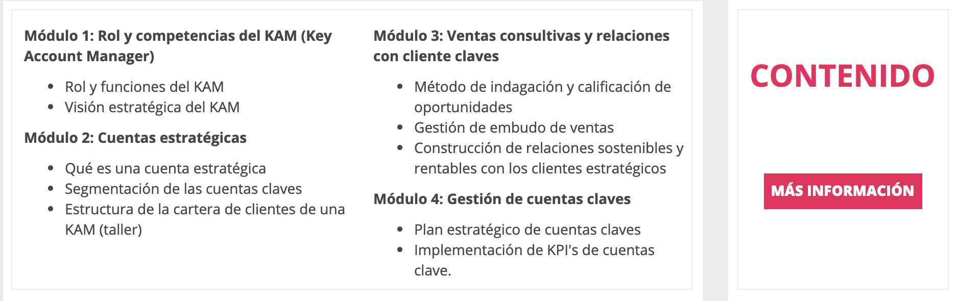 Key Account Management Ecuador