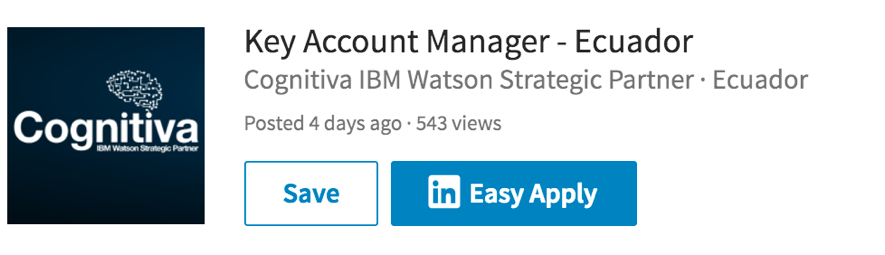 Key Account Manager según IBM para Cognitiva