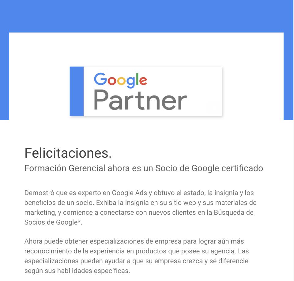 Google Partners Ecuador - Formación Gerencial