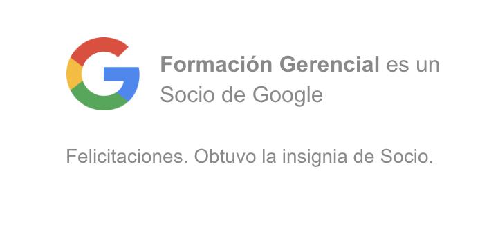 Formación Gerencial obtiene nuevamente el status de Partner de Google
