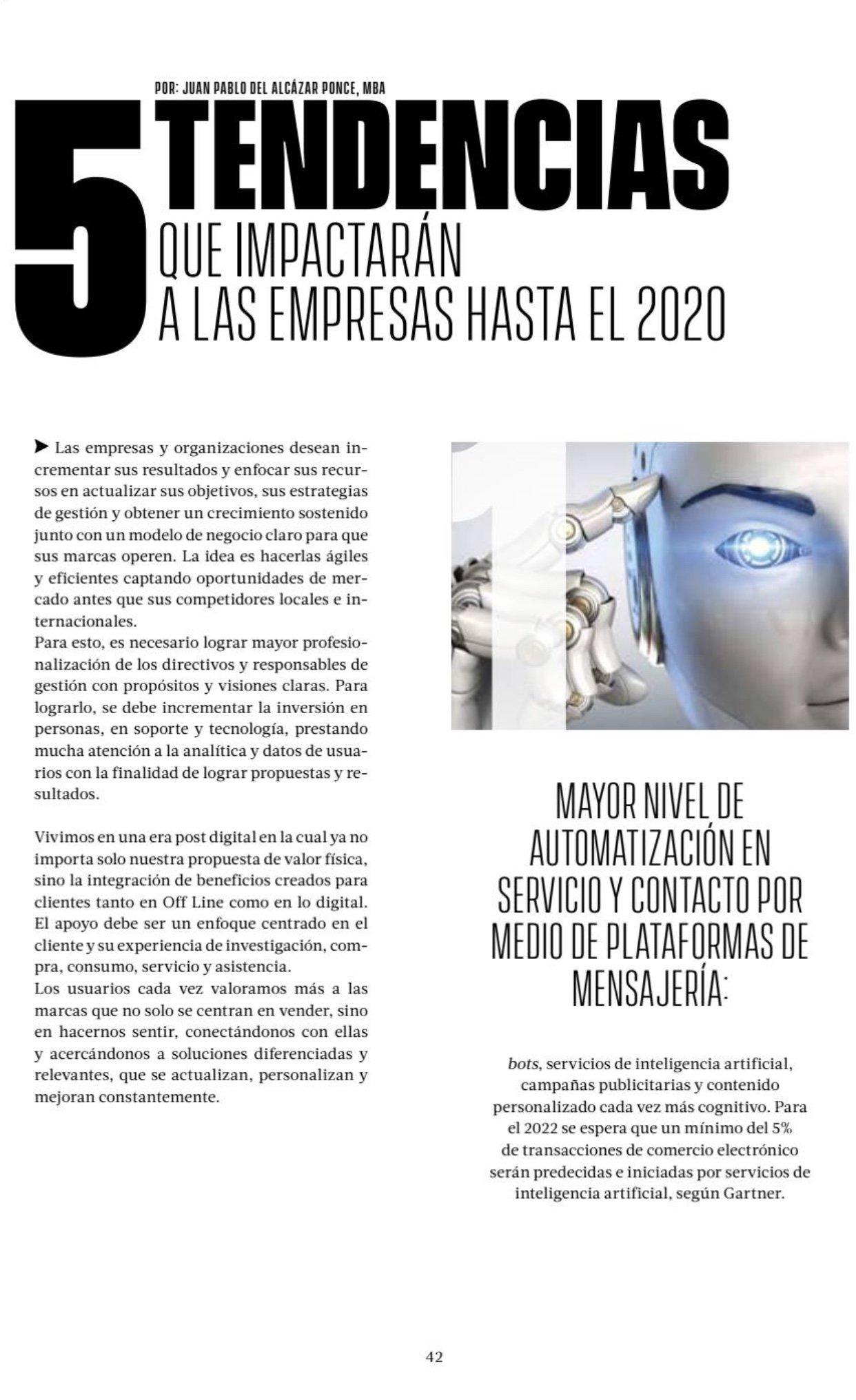 5 Tendencias de gestión y marketing 2020