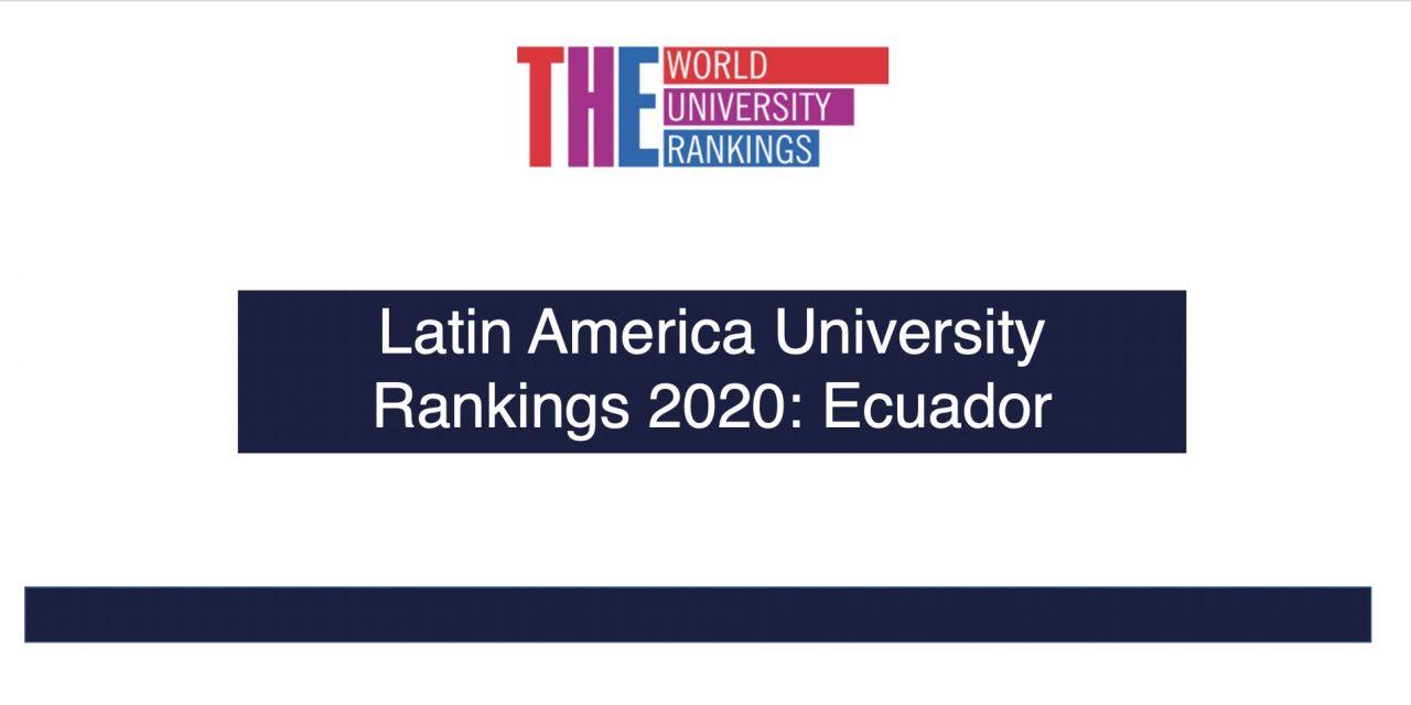 Ranking Mejores Universidades de Ecuador 2020 – Times Higher Education